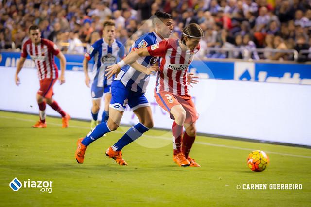 Temporada 15/16. Jornada 10ª. R.C.Deportivo 1 - Atlético de Madrid 1