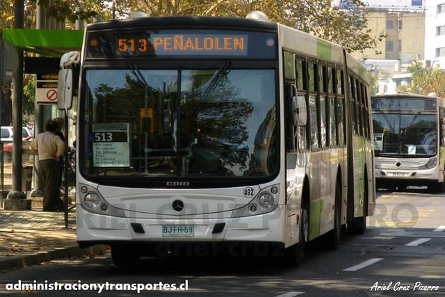 Transantiago - Metbus / Buses Metropolitana - Caio Mondego HA / Mercedes Benz (BJFH69) (492)