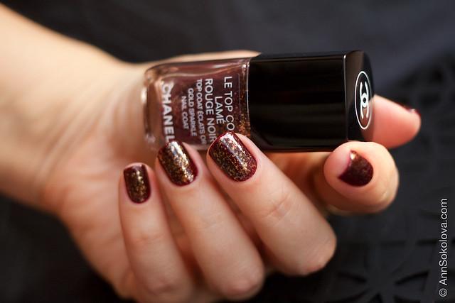 05 Chanel Le Top Coat Rouge Noir and Chanel 18 Rouge Noir