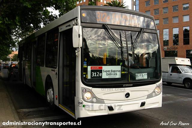 Transantiago - Buses Vule - Caio Mondego H / Mercedes Benz (BJFS77)