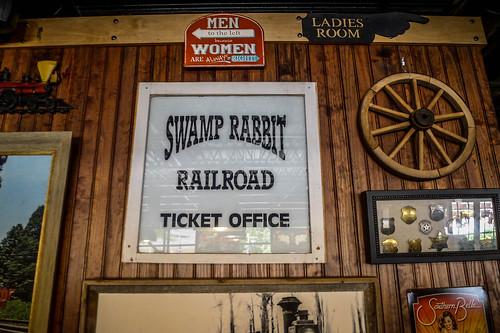 Swamp Rabbit Ticket Office Sign
