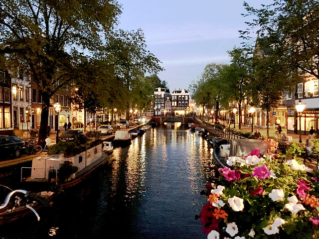 Canal evening view