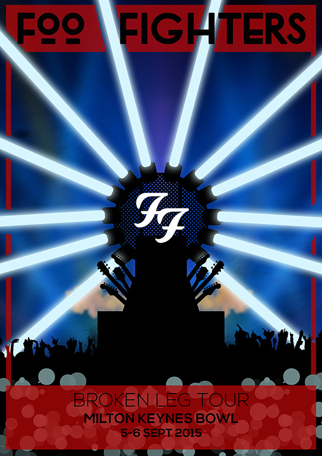 Foo Fighters Milton Keynes Bowl Poster Design