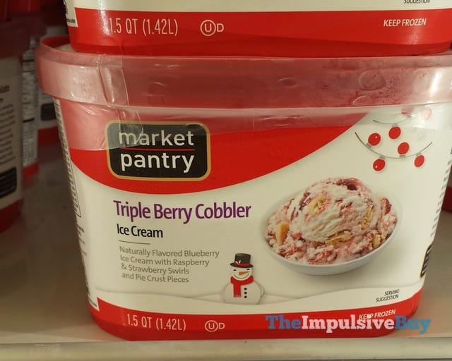 Market Pantry Triple Berry Cobbler Ice Cream