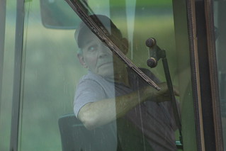Grandpa Bob in the grain cart!