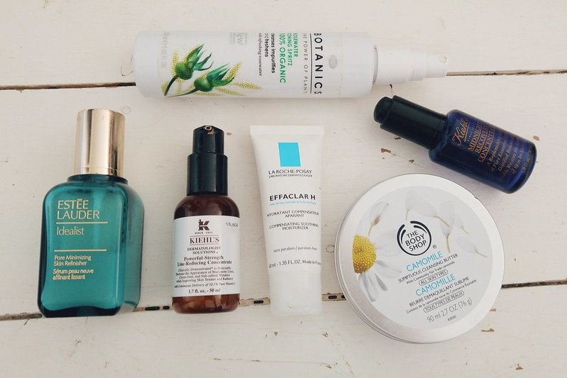 My current skincare routine  www.arosieoutlook.com Feat. Kiehls, Body Shop, Botanics, Estee Lauder. #bbloggers
