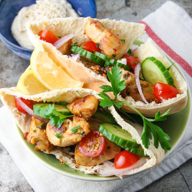 spicy shawarma chicken pitas [ inthiskitchen.com ]