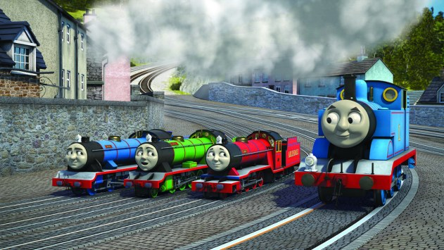 Thomas looks unusually large in this picture...