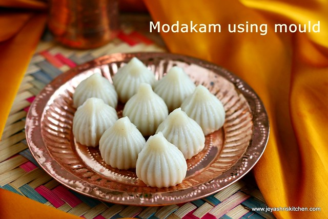 Modak- using mould