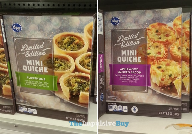 Kroger Limited Edition Mini Quiche (Florentine and Applewood Smoked Bacon)