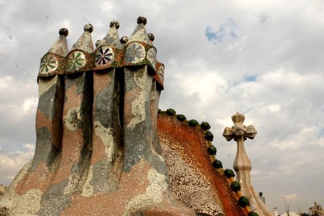 Casa Batlló chimeneas