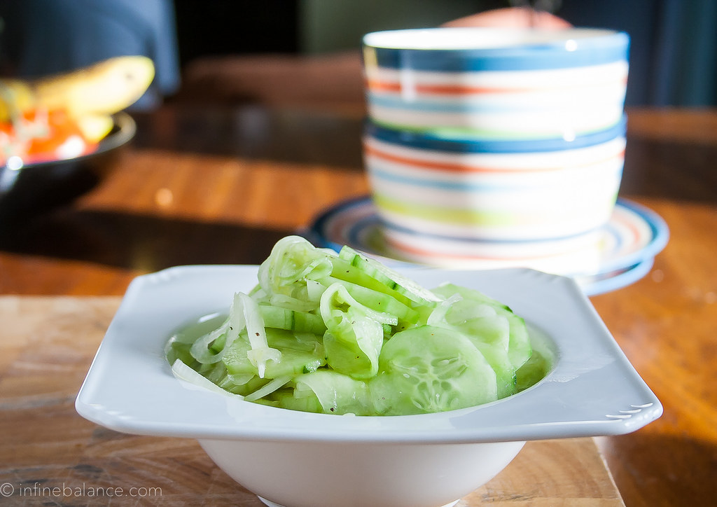 Mom's Cucumber Salad | www.infinebalance.com #recipe #salad