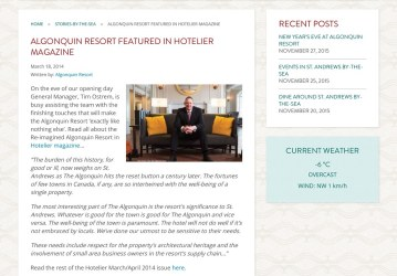Tim Ostream Editorial Hotelier Magazine
