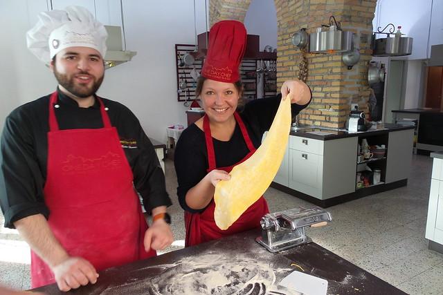 Zelf pasta maken met One day chef in Rome