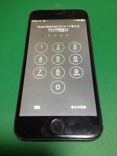 15_iPhone6のフロントパネルガラス割れ