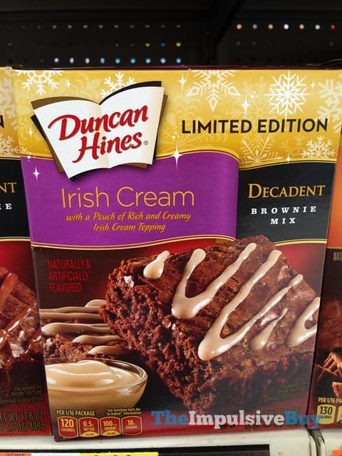 Duncan Hines Limited Edition Irish Cream Decadent Brownie Mix