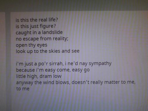 Excerpt From a Shakespearean Rhapsody