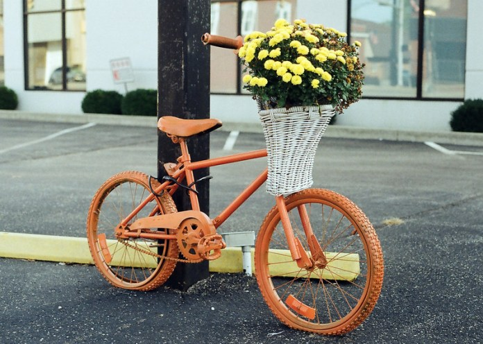The bicycle planters of Knightstown