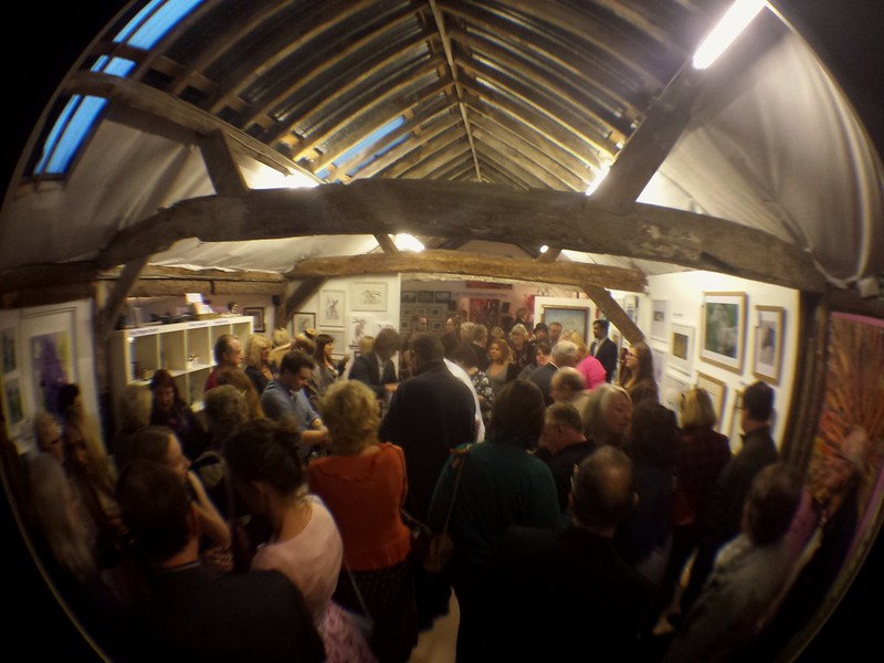 Packed house at the Open Studios Private View at Mardlebury Gallery tonight :)