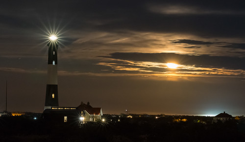 Super Moon at the Fire Island Lighthouse