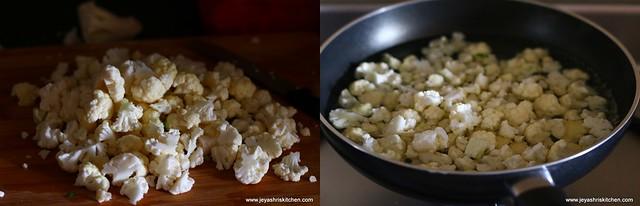 cauliflower poriyal