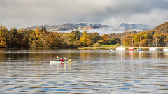 Canoeing on #Windermere lake