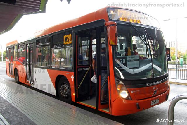 Transantiago - Redbus Urbano - Neobus Mega LE / Volvo (CJJW57)