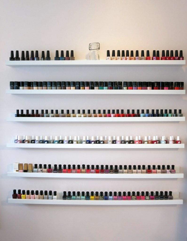 nail polish rack storage