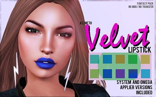 [ a.e.meth ] - Velvet Lipstick (Fantasy Pack)