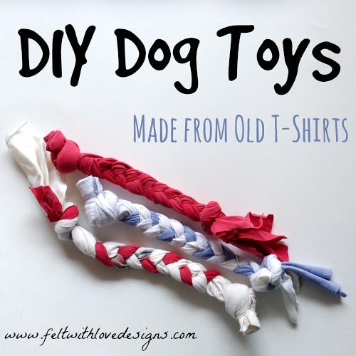 knit dog toys
