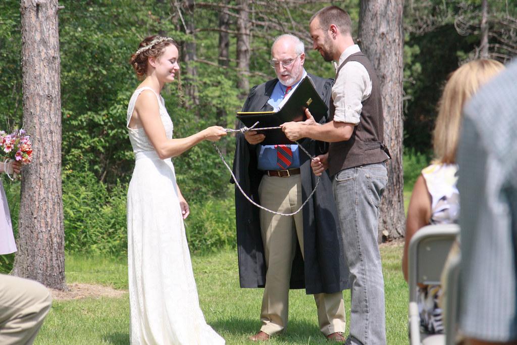 Fisherman's wedding knot