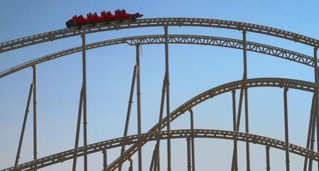 ferrari world rollercoaster