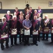 Phoenix Chapter No. 34 Mark Master Mason degree at Cookstown Masonic Hall.