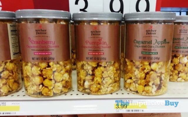 Archer Farms Limited Edition Cranberry, Pumpkin, and Caramel Apple Caramel Corn Clusters