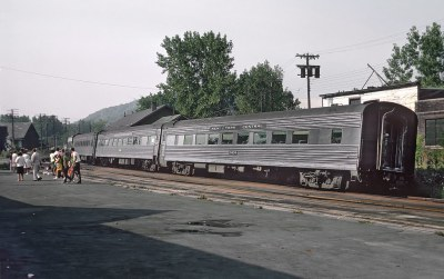 PC Empire Service Train 50 departring at the Hudson, NY station on September 2, 1968