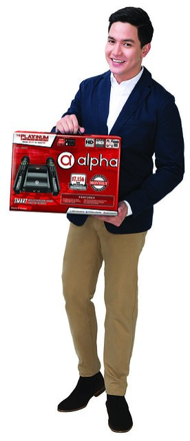 Alden with the Alpha box