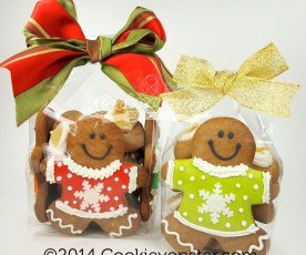 Gingerbread gift bags