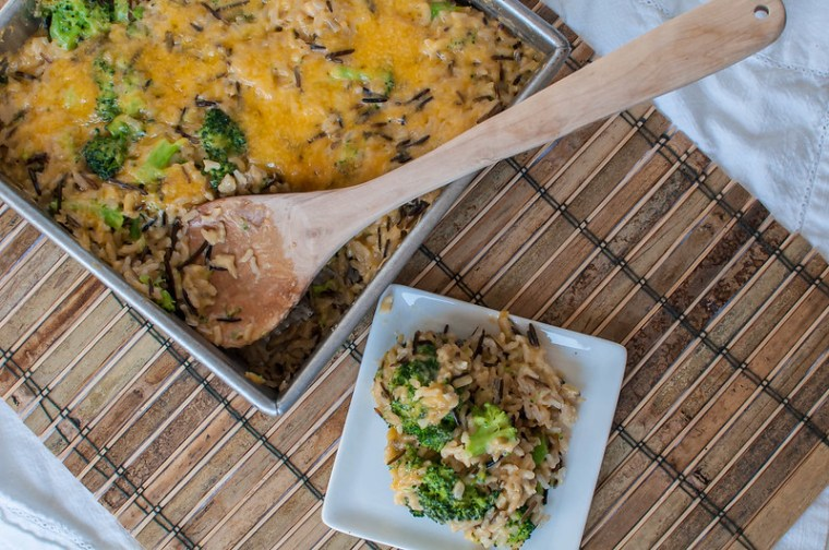 Brown Wild Rice Broccoli Cheese Casserole 3