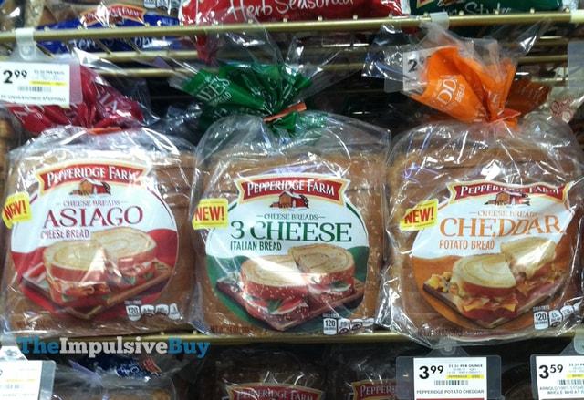 Pepperidge Farm Cheese Breads (Asiago Cheese Bread, 3 Cheese Italian Bread, and Cheddar Potato Bread) 10.34.22 AM