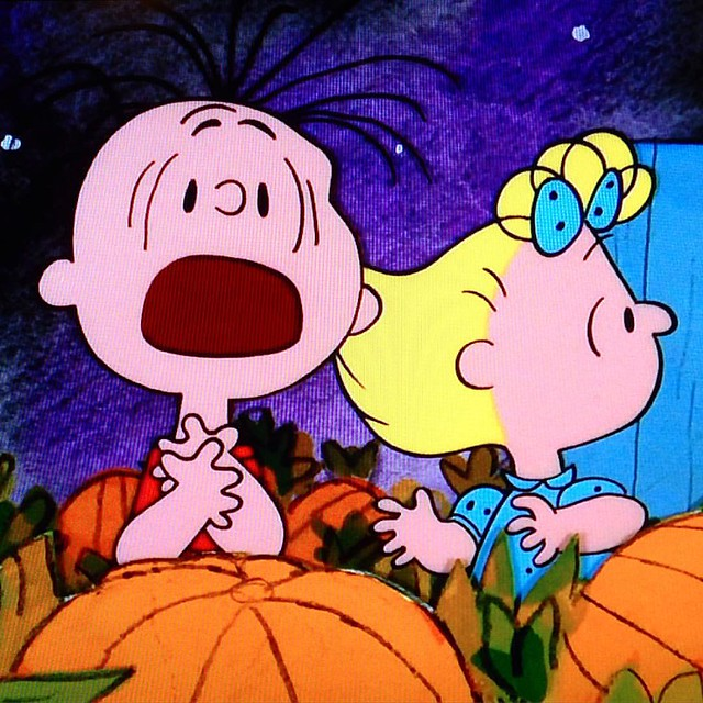 ITS THE GREAT PUMPKIN!! #greatpumpkin #charliebrown #peanuts #linus #linusvanpelt #sally #itnevergetsold