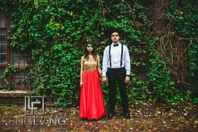 Radhika & Kishan Engagement | Goat Farm Atlanta | Atlanta Indian Engagement Session