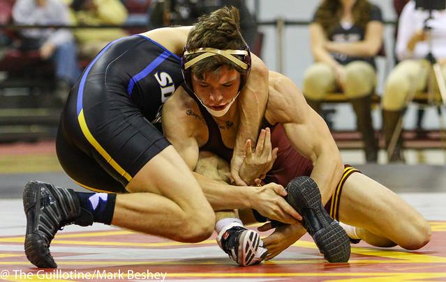 133: No. 7 Seth Gross (SDSU) maj dec Mitch McKee (Minn). 12-3