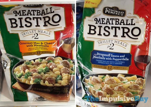 Cooked Perfect Meatball Bistro Skillet Meals (Gourmet Mac & Cheese and Stroganoff Sauce)