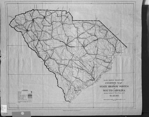 1922 SC Road Condition Map