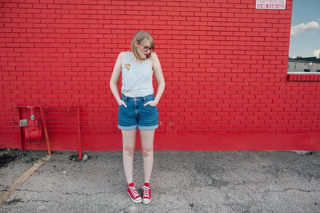 pizza pin high-waisted shorts7