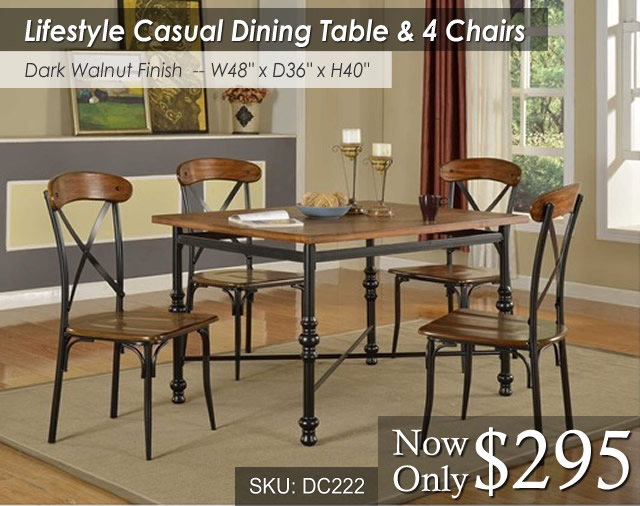 DC222DIN Lifestyle Dining Table and 4 Chairs