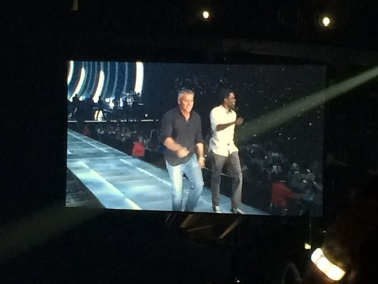 Matt LeBlanc and Chris Rock at the Taylor Swift 1989 Tour LA