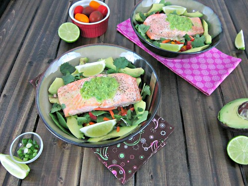 Baked Salmon with Lime Jalapeno Butter