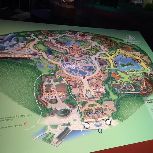 上海ディズニーリゾート全体マップ。