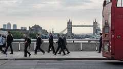 suits on the bridge